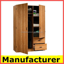 wholesale wooden almirah designs in bedroom wall China manufacturer