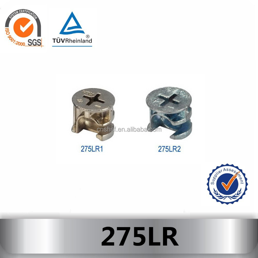 SZCF 275LR2 high quality zinc-alloy minifix nut/furniture connecting fittings