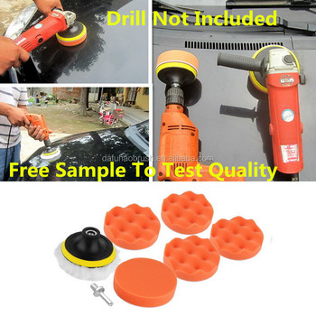 4''Polishing Sponge Pad M10 Drill Adapter Kit For Car Auto Polisher