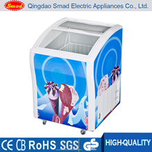 Mini portable display chest freezers used for ice cream