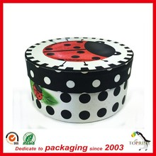 wholesale round shape colorful printing large diametre tube paper packaging for celebration cake