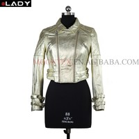 wholesale high end winter pearlescent color leather clothing