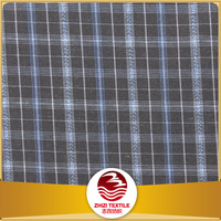 Zhejiang 30% cotton 70% polyester yarn dye check design men's shirt fabric