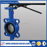 PTFE Seat 6 Inch Cast Iron Wafer Butterfly Valve