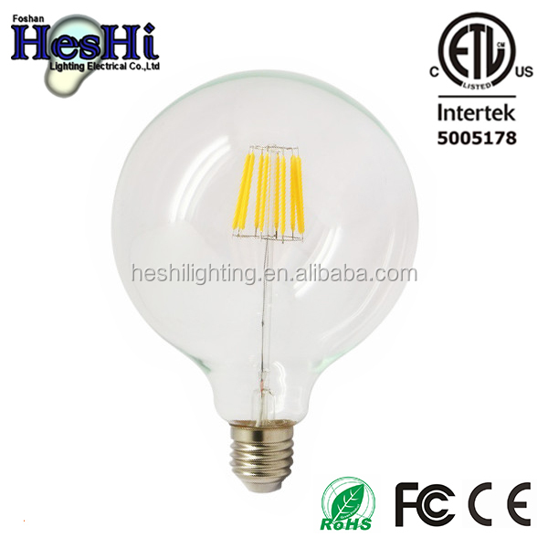 Hot New style g125 led filament bulb, filament led bulb, led filament 3.5w 6w