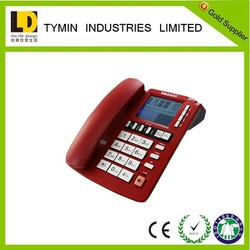fancy telephones Red Color table phones hotel /home landline telephone