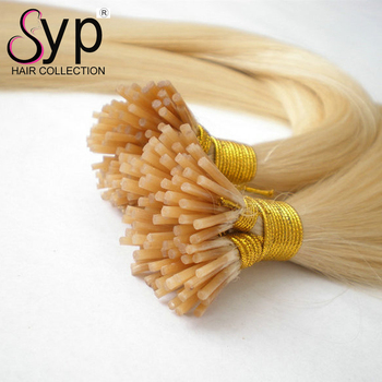 Wholesale Hair Vendors 100% Russian Human Stick 10-30 Inch I Tip Hair Extensions On Sale
