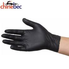 List Consumable Products Disposable Gloves Black Nitrile Industrial