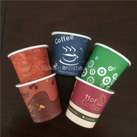 Fanshion Coffee and tea 12oz 16oz disposable single wall paper coffee cup, recycled paper coffee cups