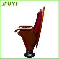 JY-901 Interlocking Used For Modern Wooden Cheap Chair For The Auditorium Stacking Church Chair Home Cinema Seats