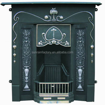 cast iron wood burning fireplace(JX119A)