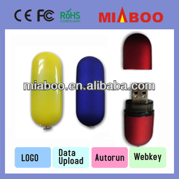 OEM Mini 4GB Plastic USB With full Capacity,Colourful Vacuum Shape Usb2.0