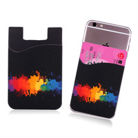 3m sticker smart wallet mobile phone case with silicone business card holder