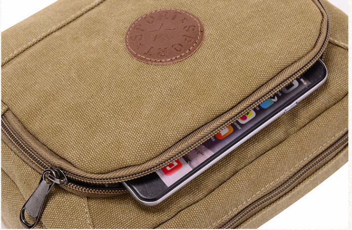 Promotion custom shoulder strap bag unisex small messenger bags canvas men