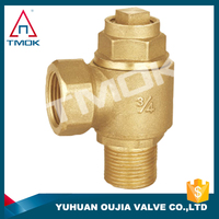 brass stop valve cw617n top quality superior copper regulating globe valve ce certification China OUJIA VALVE factory