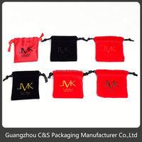 Promotional High-End Handmade Fashion Flap Velvet Jewelry Pouch