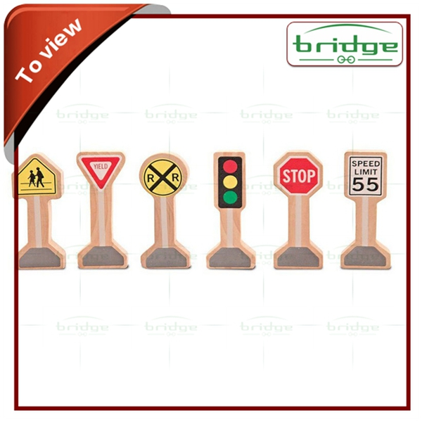 Educational wood Traffic Signs Set toy wood Traffic Signs Set toy