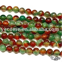 6-14mm Natural Peacock Agate Half-Finished Round Beads