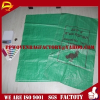 green color pp woven bag seed bag factory with best quality and price for chicken feed 50kg