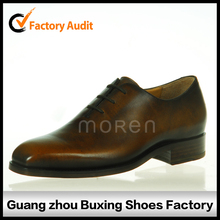 Italy Genuine Goodyear Welt Man Real Animal Leather Dress Shoe