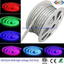 2016 ETL Decorative led light high brightness flexible 60led per meter 110v 220v 5050rgb led strip