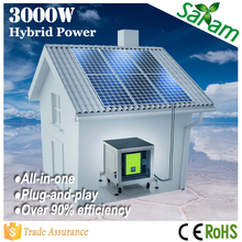 Plug & play off-grid 3KW home solar system