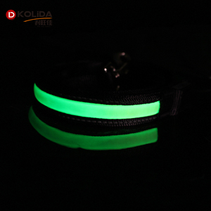 Wholesale Rope Logo Supreme Flashing LED dog Leash and Collar Rope