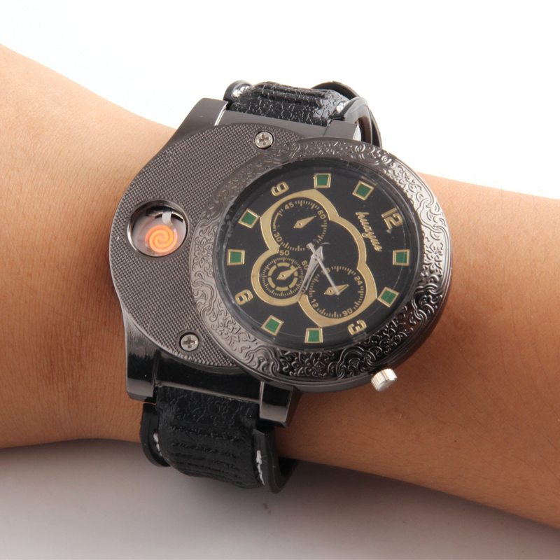 Yanzhen Fashion style watches, lighters, USB electronic charging, cigarette lighter wholesale F666