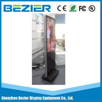 42 inch 1080P lcd totem kiosk floor stand touch screen advertising player