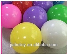 Manufacture cheap customized Yellow Plastic Play Balls With Soft LDPE Material for Kids