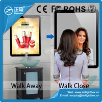 Factory direct ABS plactic advertising magic mirror promotional acrylic sheet movie poster light box led backlight frame