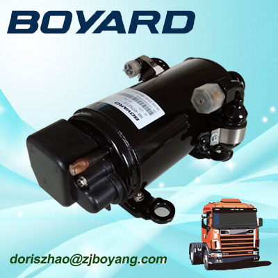 zhejiang boyard 12v 24v dc fridge compressor electric car ac compressor for trane air conditioners
