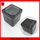 Clear PVC window sliding lid square tin box