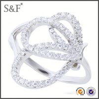 HOT SELLING!!! Newest Style Crystal bulk sale stainless steel rings wholesale jewelry