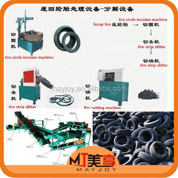 MAYJOY tire machines for sale used/waste tyre recycling machine production line(whatsapp:008613816026154)