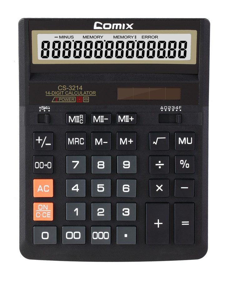 New Design Novelty Solar Powered 14 digits Desktop calculator