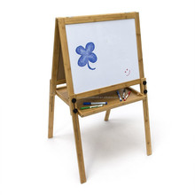 Bamboo Magnetic Blackboard Children's Chalk Board Height Adjustable Whiteboard Dry Erase Board Painting Table