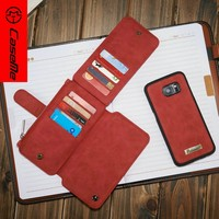 Flip Bookstyle Strong Magnetic Leather Phone Case for Apple Samsung S7 edge, For Samsung S7 edge Wallet Leather Case