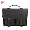 Men Genuine vintage leather briefcase