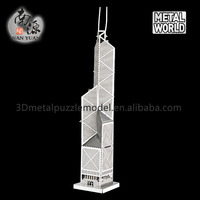 2016 New designs HK Bank of China Tower 3D metal puzzle size 11*11