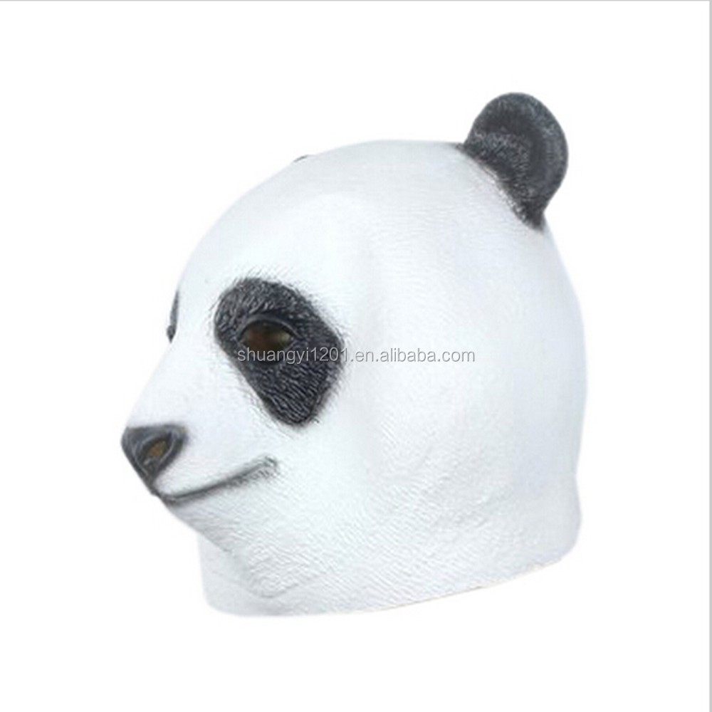 Full Overhead Animal Latex Mask Fanny Costumes Party Prop Panda Head Latex Mask
