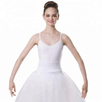 Romantic Dance Tutu Skirt Performance Long Ballet Tutu Dress White Dance Costumes