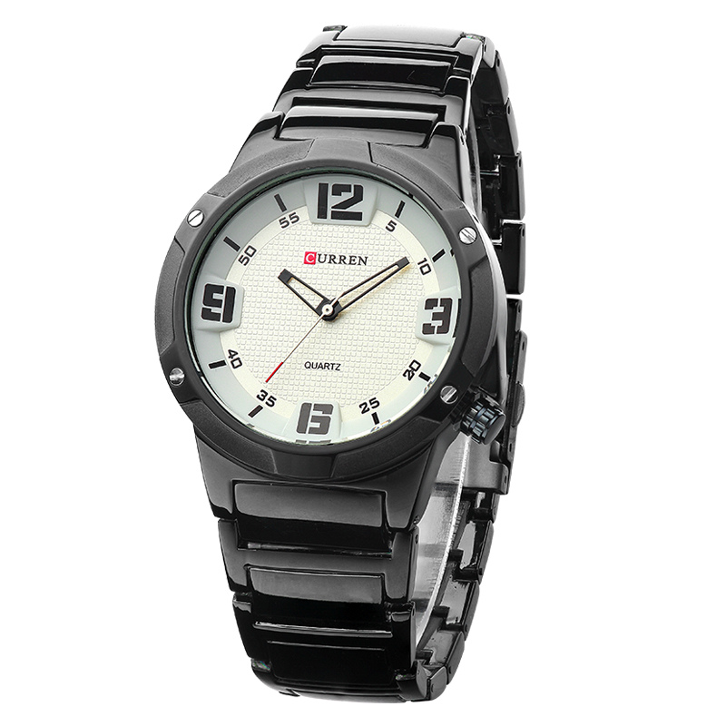 CURREN 8111 Latest Stainless Steel Chain 4 Colors Wrist Watch Men's Brand Watch