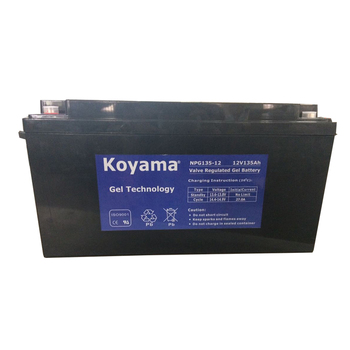 12V135ah High Temperature Deep Cycle Solar Gel Battery with 20years Longer Life