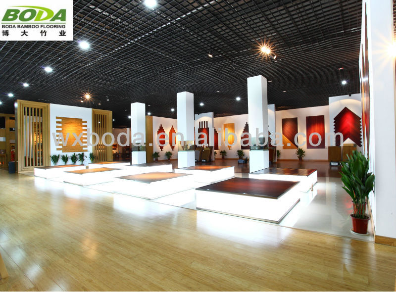 Hand Scraped China Top Ten Selling Products Bamboo Flooring- Natural