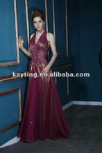 Festival Mother of the bride dresses Open Back beaded evening dress Burgundy evening dress A7735