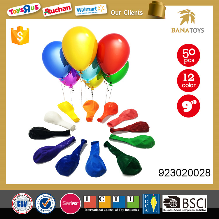 Colorful gift toy 9 inch colorful inflatable balloon