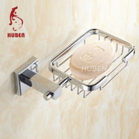 Brass bathroom ceramic corner soap dish for shower rail