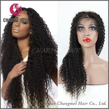Wholesale Brazilian Rery Hair Kinky Straight Full Lace wig