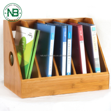 Cheap 100% natural bamboo office magazine documents file holder organizer